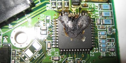 Chip that controls HDMI inputs blown