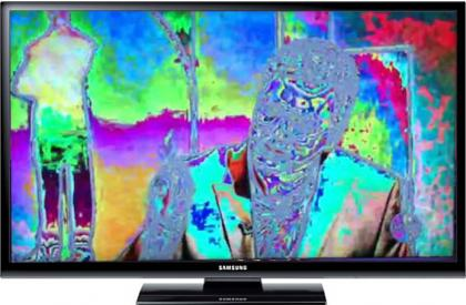 LCD TV with solarized picture